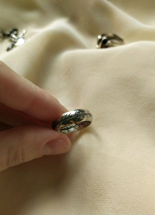 Серебро 925 кольцо Всевластия Властелин колец