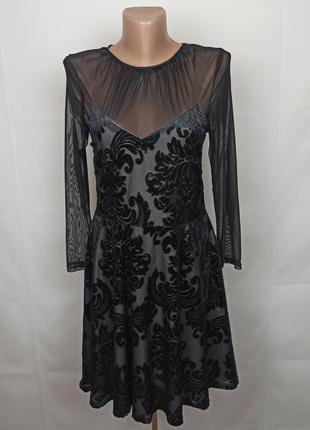 Платье новое шикарное сеточка под велюр atmosphere uk 10-12