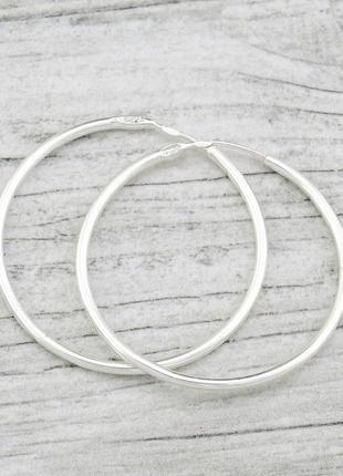 Серьги серебряные 3 см кольца конго 2003