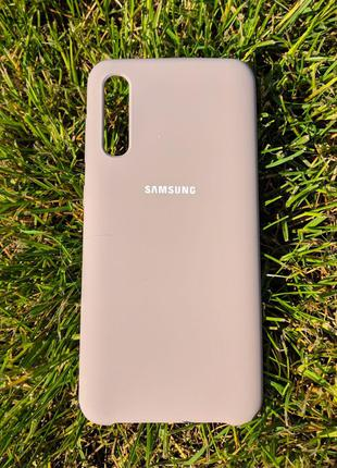 Бампер Silicone Cover Case для Samsung Galaxy A70 Cover Pink Sand