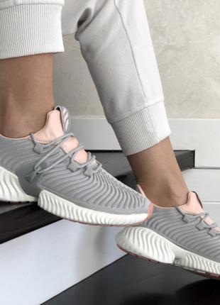 Кросівки сірі жіночі adidas літо Кроссовки серые женские лето