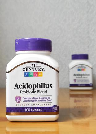 Пробиотики Ацидофилус, Acidophilus, 21st Century, 100 капсул