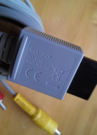 Nintendo Wii Cable Оригинал композит AV видео TV кабель Шнур