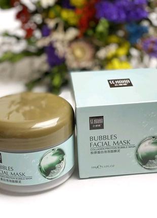 Очищающая пузырьковая маска для лица Bubbles Facial Mask SENANA