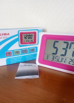 Часы настольные\настенные электронные Atima ат-611
