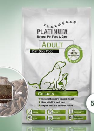 Полувлажный корм для собак PLATINUM Adult Chicken, 5 кг