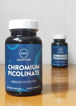 MRM, Хром Пиколинат, поддержка уровня сахара в крови, 200 мкг