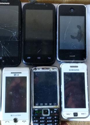 Телефоны на запчасти и под восстановления