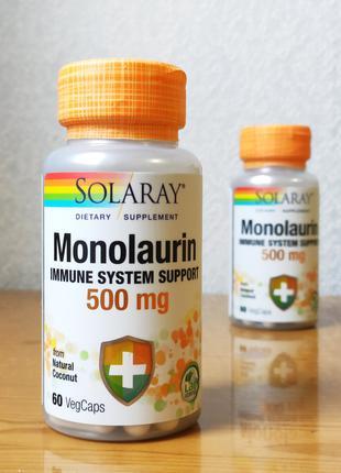 Solaray, Монолаурин, 500 мг, 60 шт.