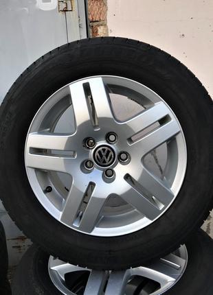 Колеса (диски+резина) VW Golf, Skoda 195/65 R15