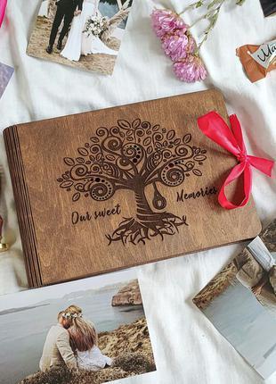 ТОП! Подарок на годовщину, свадьбу - Фотоальбом из дерева! ЖМИ!