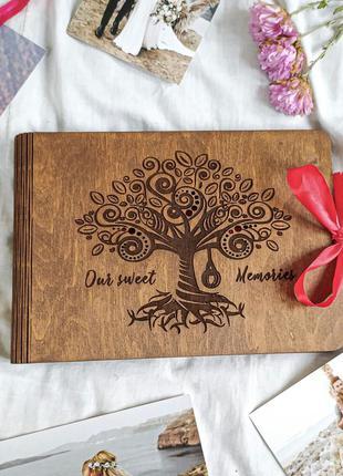 NEW! Дерев'яний фотоальбом - подарунок на день народження! Акція!
