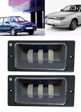 Штатные противотуманные светодиодные LED фары Ваз LADA 2110-21...
