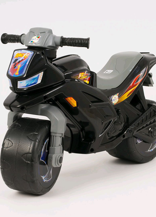 Мотоцикл, толокар, беговел детский, черный