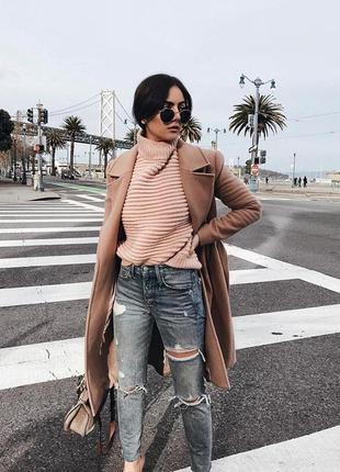 Невероятно стильный пудровый свитер оверсайз h&m