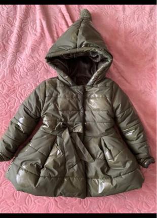 Пуховик на девочку. зимняя куртка .