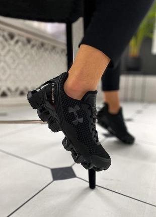 Under armour scorpio 3 full black мужские стильные кроссовки