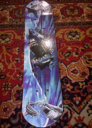 Детский скейт с акулой
