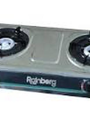 Газовая плита на 2 турбо конфорки Rainberg G-02