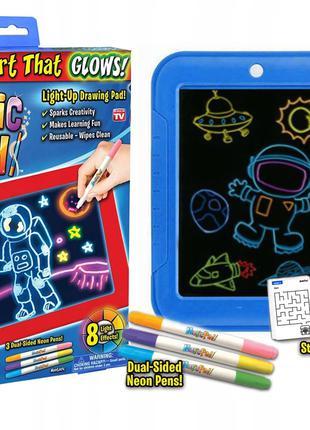 Magic Pad планшет-раскраска с неоновыми маркерами и подсветкой