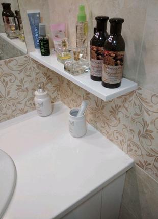 Полочки в ванную комнату из искусственного камня