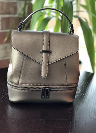 Кожаная женская сумка-рюкзак virginia conti (италия)