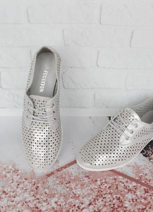 Туфли на шнурках, оксфорды, броги с полностью кожаной серединой