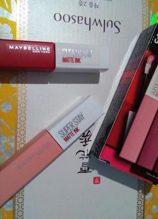 Жидкая матовая помада maybelline super stay matte ink