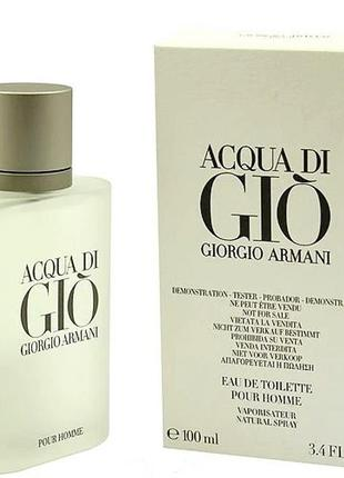 Тестер мужской туалетной воды giorgio armani acqua di gio (100...