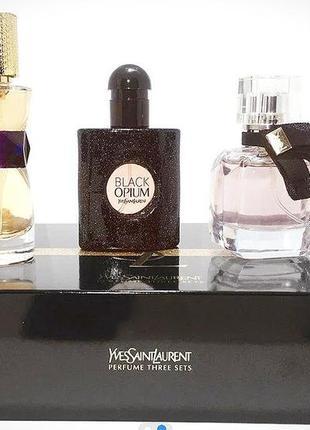 Подарочный набор женской парфюмерии ysl ,3 в 1(30 мл)