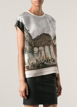 Эксклюзивная шелк футболка майка античность греция dolce&gabba...