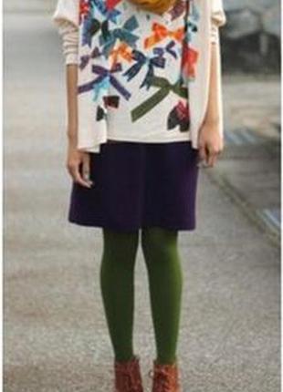 Колготки incity женские цветные плотные темно-зеленые инсити к...