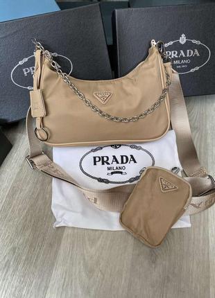 Женская сумка двойка в ст. прада prada