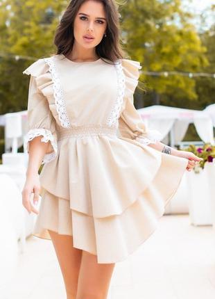 Нежное летнее платье коттон