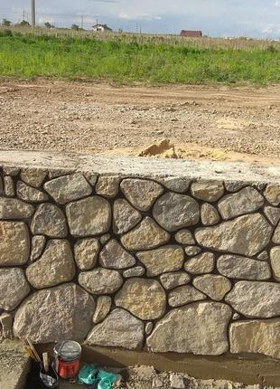 Будуємо забори з каменя,фундамент, погріб та інші камяні споруди