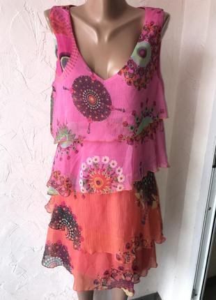 Воздушное многослойное платье