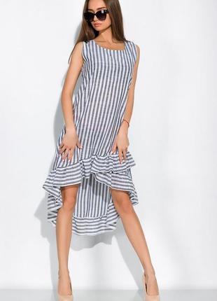 Платье свободного покроя в полоску