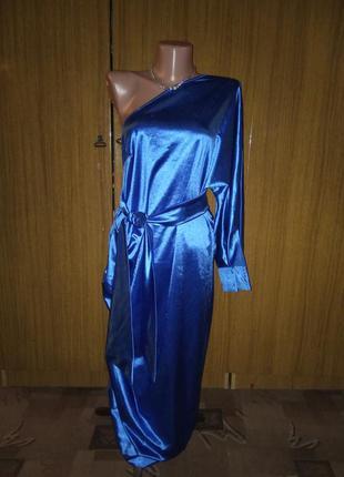 Нарядное, атласное платье от hey irma