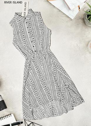 Асимметричное платье в геометрический узор river island
