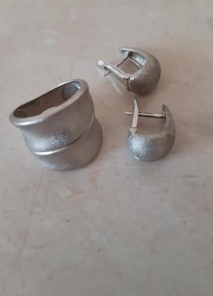 Кольцо из матового серебра