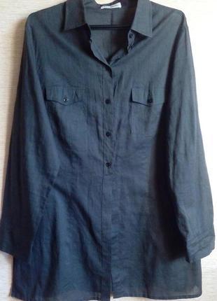 Удлиненная хлопковая рубашка на 52-54 размер