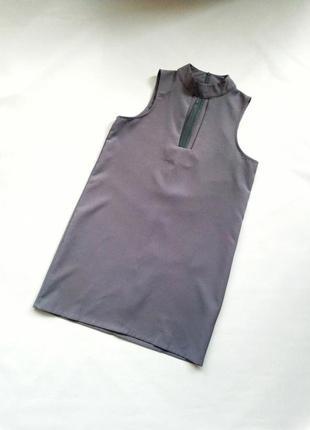 Платье футляр лавандовое с чокером и квадратным декольте lola may