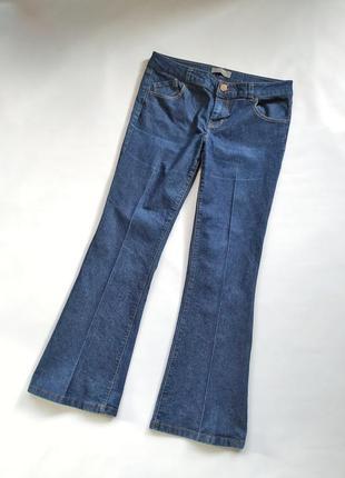 Актуальные джинсы со стрелками прямые по ноге широкие внизу do...