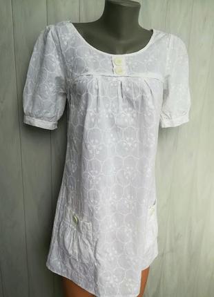 🌸белоснежное батистовое платье-туника 🌸