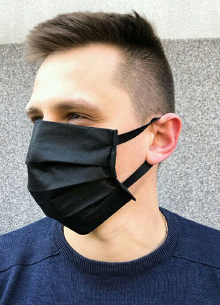 Защитные маски 3-х слойные спанбонд.