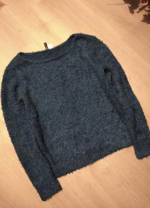 Изумрудный свитер травка h&m
