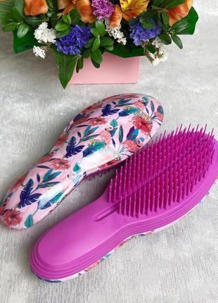 """Расческа для распутывания волос """"фламинго-леопард"""" (большая) к..."""