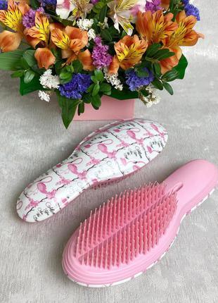 """Расческа для распутывания волос """"фламинго"""" (большая) к.16049"""