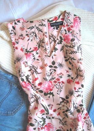 Нежное цветочное платье-трапеция dorothy perkins