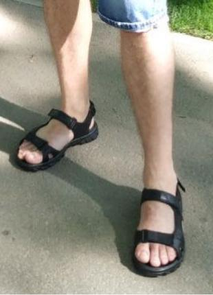 Ecco Супер! Подростковые сандалии в стиле Экко летние из натураль